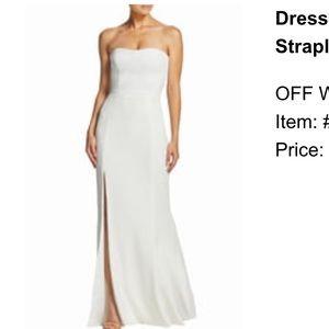 Dresses & Skirts - White strapless wedding dress